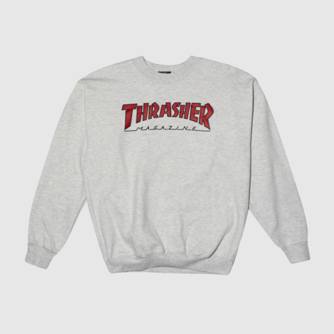 Свитшот THRASHER OUTLINED CREWNECK ASH GREY