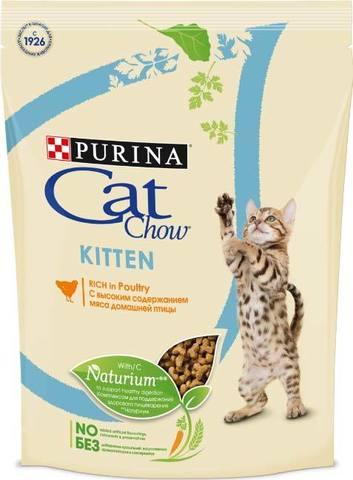 15 кг. PURINA CAT CHOW Сухой корм для котят с домашней птицей Kitten