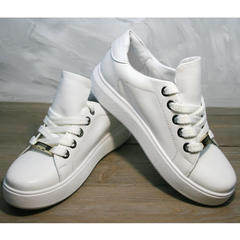 Кожаные белые кеды женские Molly shoes 557 Whate