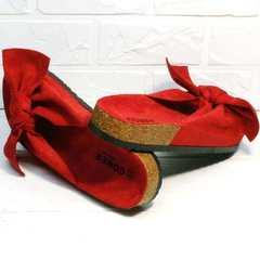 Модные сандалии шлепки биркеншток женские Comer SAR-15 Red.