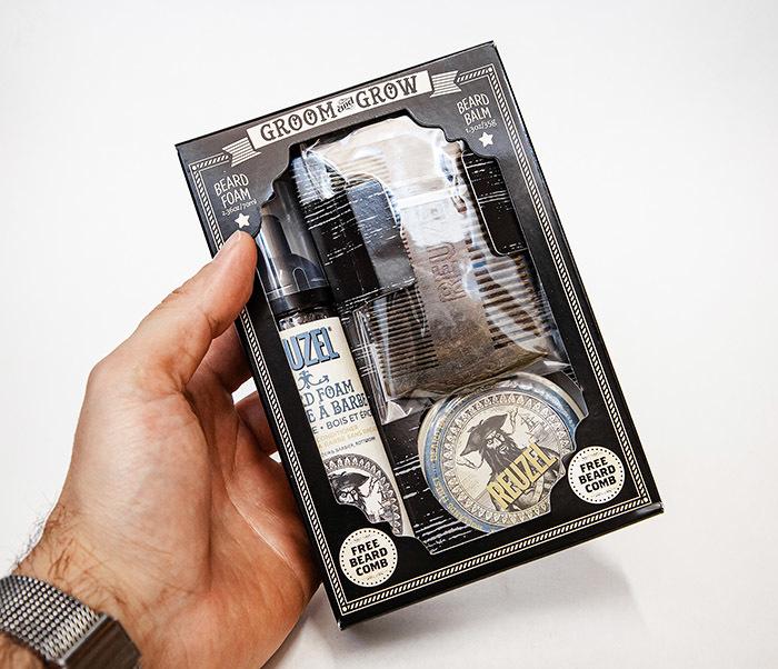 CARE171 Подарочный набор REUZEL для бороды (бальзам, расческа, кондиционер) фото 04
