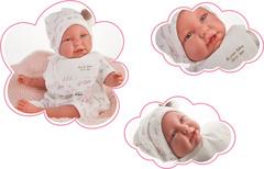 Munecas Antonio Juan Кукла Реборн младенец Урсула в белом 52см (8154)