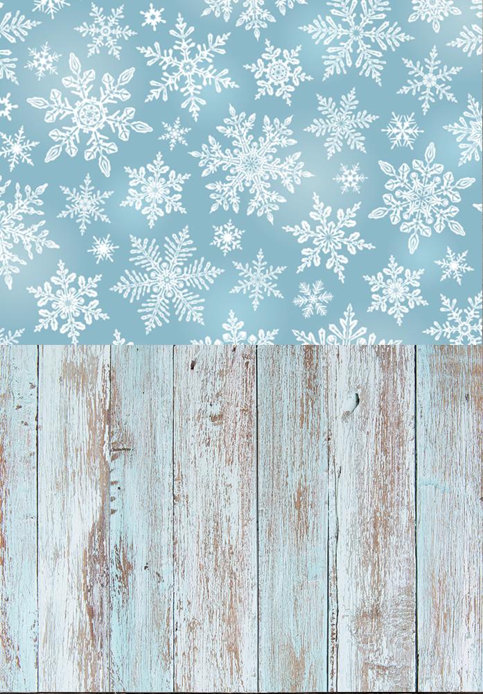 Разворот фотофона: снежинки