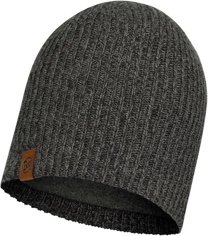Шапка вязаная с флисом Buff Hat Knitted Polar Lyne Grey фото 1