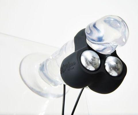 Черный инновационный мужской вибростимулятор JETT