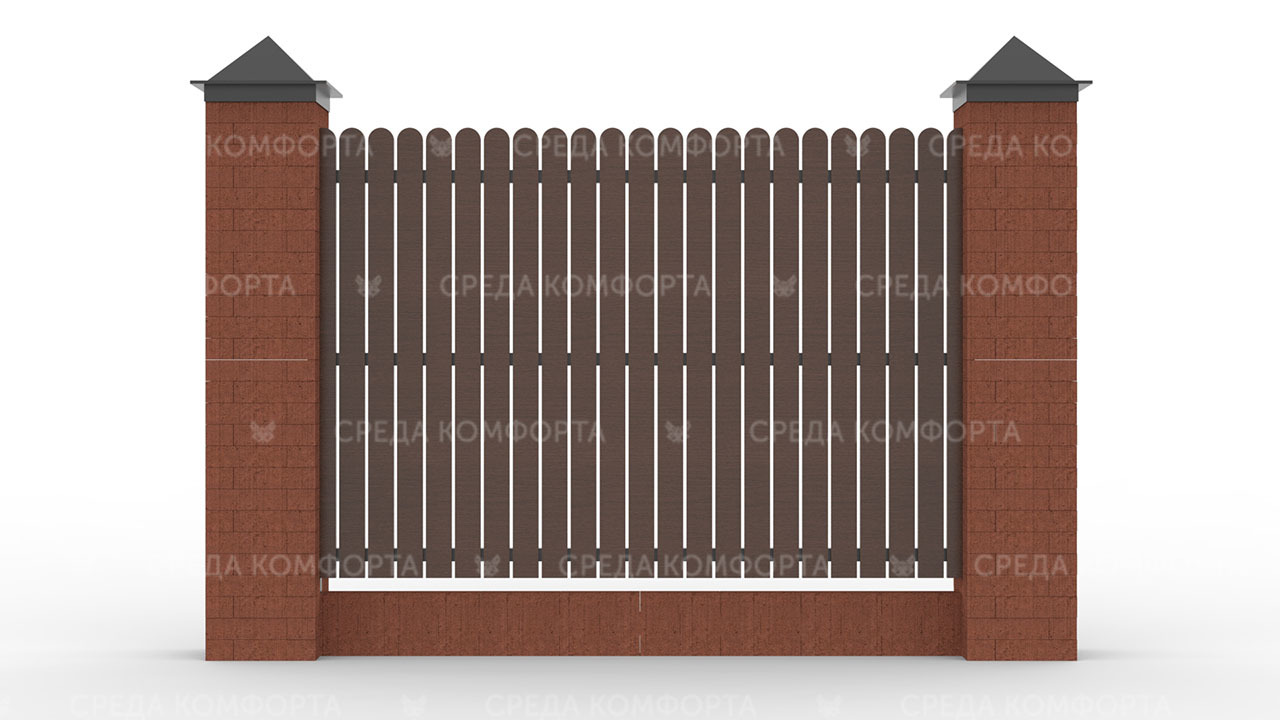 Деревянный забор ZBR0011