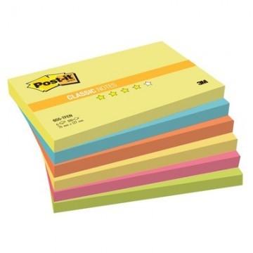 Стикеры Post-it Original 76x127 мм неоновые 5 цветов (6 блоков по 100 листов)