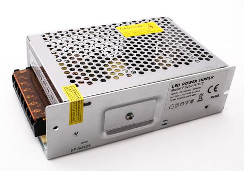 Блок питания 200Вт, 12В, IP23 для светодиодных лент и модулей