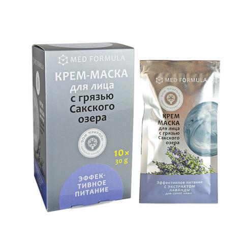 МДП Крем-маска ЭФФЕКТИВНОЕ ПИТАНИЕ для сухой кожи с грязью Сакского озера (саше пакет 30г)