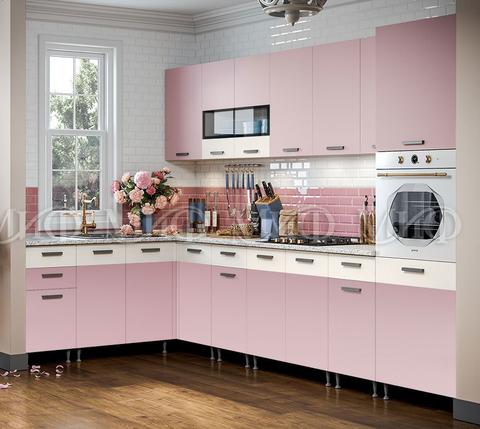 Кухня угловая Рио №1 розовый