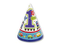 """Колпаки """"1 день рождения мальчик"""""""