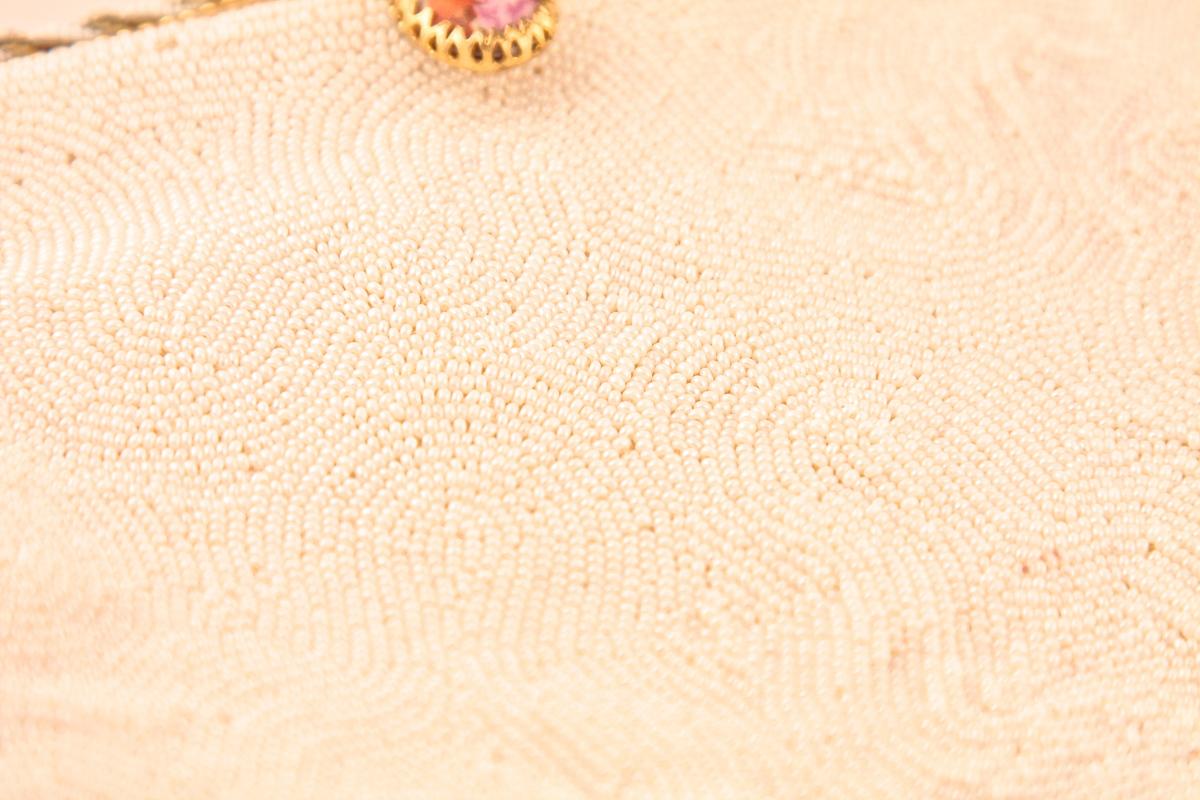 Изысканная сумка, расшитая бисером с порцелановой застежкой от Walborg, Франция