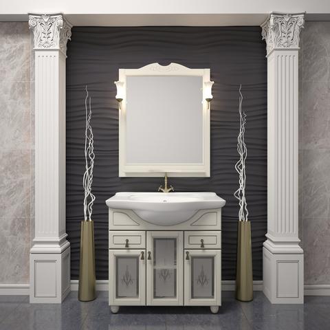 Комплект мебели Опадирис Тибет 70 см ( тумба с раковиной + зеркало со светильниками )