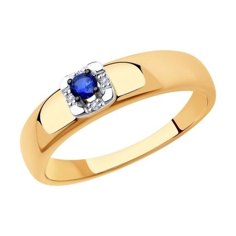 2011139 - Кольцо из золота с бриллиантами и сапфиром