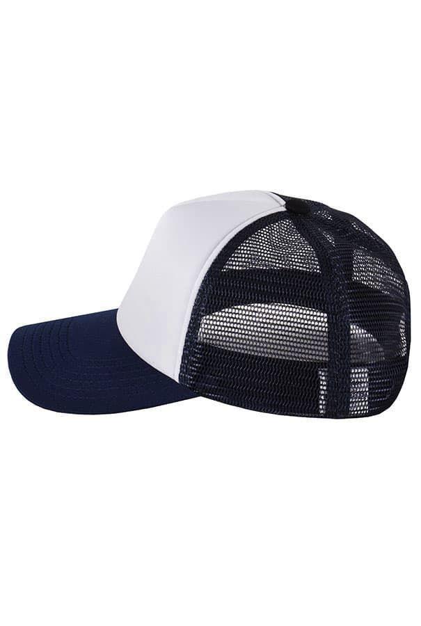 Бейсболка с сеткой темно-синяя фото 3