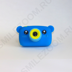 Фотоаппарат детский SmileZoom Мишка с селфи-камерой / Синий