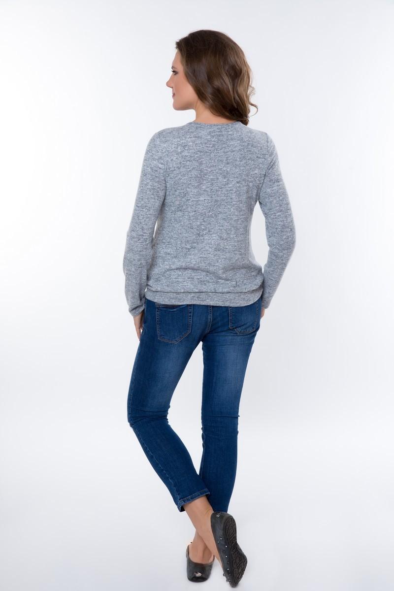 Блузка для беременных 08259 серый