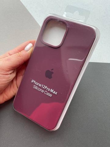 Чехол iPhone 12 (6,1) Silicone Case Full /plum/