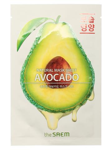 СМ Маска на тканевой основе для лица N с экстрактом авокадо Natural Avocado Mask Sheet 21мл