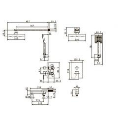 Смеситель KAISER Sonat 34677 скрытый монтаж (комплект 4 позиции) схема