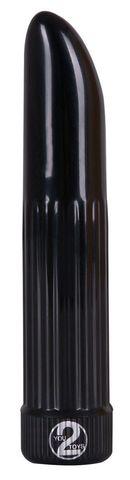 Черный вибратор  Дамский пальчик  - 13 см.