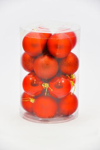 Набор из 16 шаров 60мм красные SY-1458
