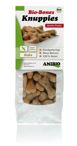"""""""Knuppies Bio-Bones Aronia"""" Хрустящие кексы с курицей и плодами аронии"""