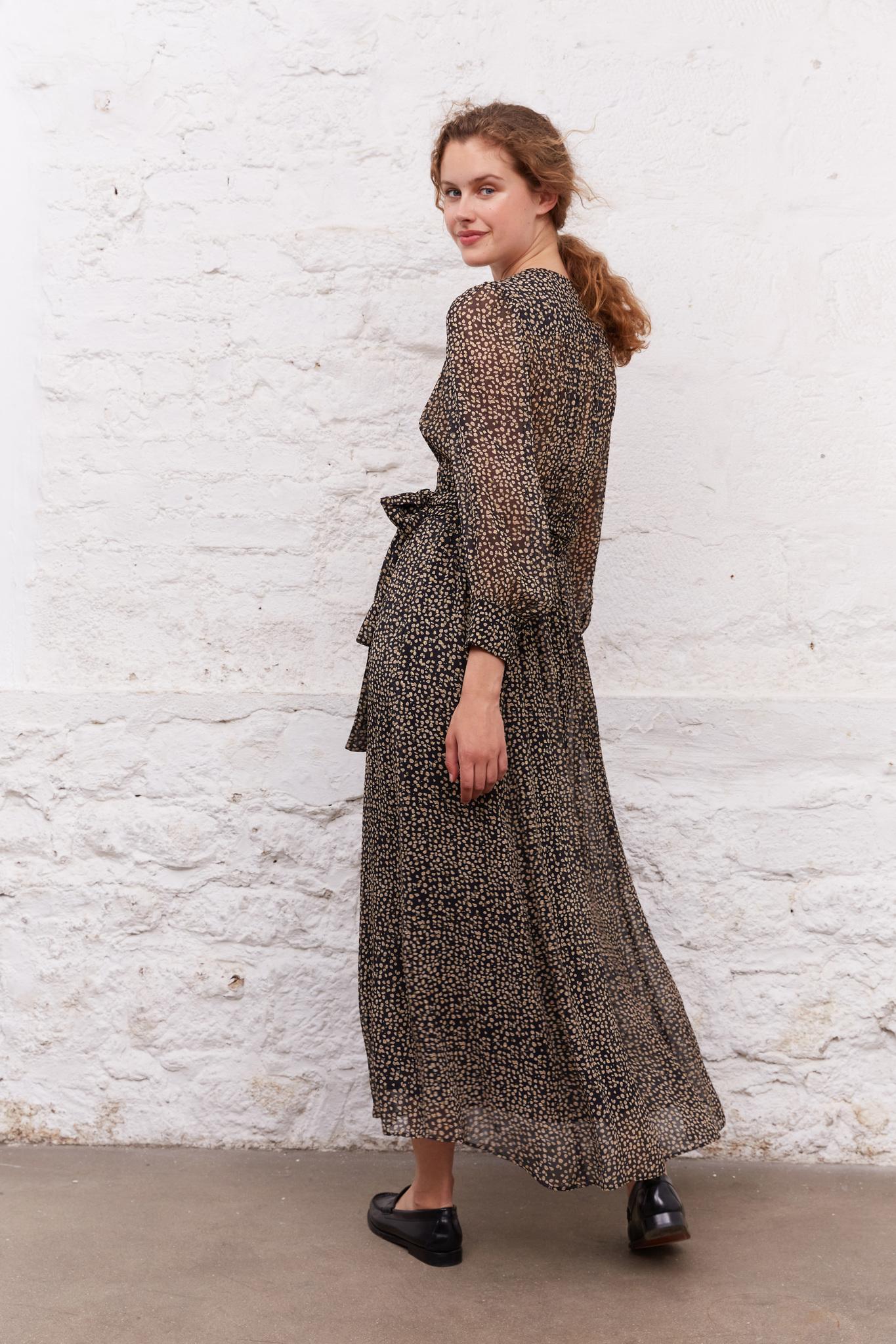 JANE - Длинное платье с принтом и люрексом