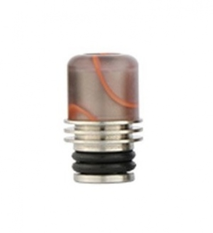 Drip-Tip Acrylic + SS 17.5mm сер. с красн.