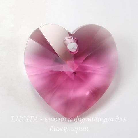 6228 Подвеска Сваровски Сердечко Rose (18х17,5 мм)