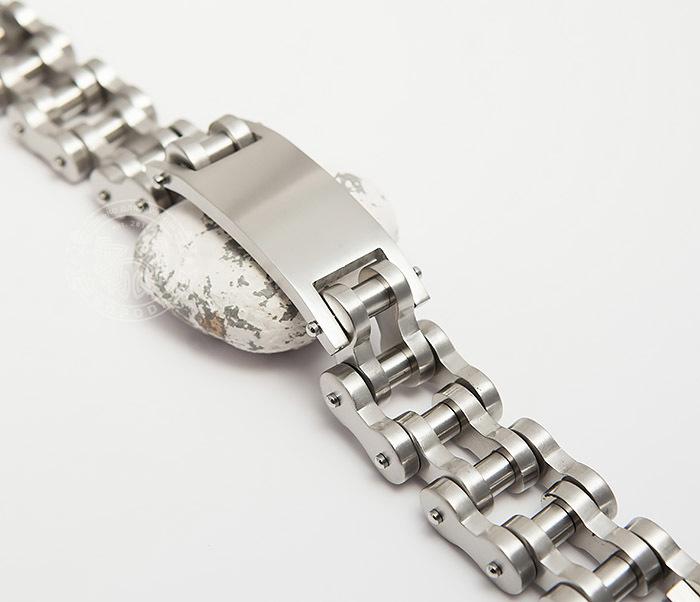 BM420 Огромный и широкий мужской браслет цепь из стали (22 см) фото 03