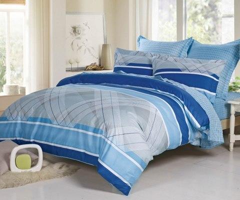 Сатиновое постельное бельё  2 спальное  В-162