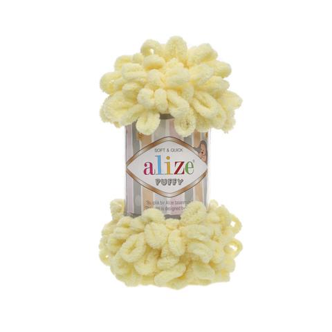 Купить Пряжа Alize Puffy Код цвета 013 Лимонный | Интернет-магазин пряжи «Пряха»