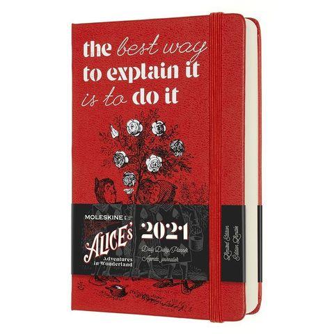 Ежедневник Moleskine LE Alice in Wonderland Pocket 90x140мм обложка текстиль 400стр. красный
