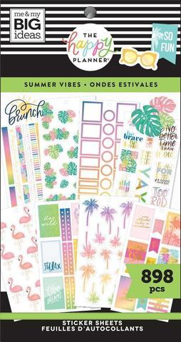 Блокнот со стикерами для ежедневника Create 365 Happy Planner Value Pack Stickers - Summer Vibes- 898 шт