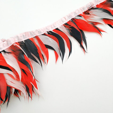 Тесьма из перьев гуся , h -около 10 см (микс-2)