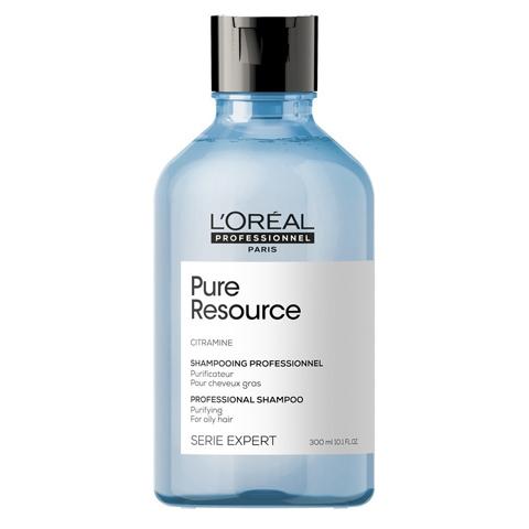 L'Oreal Professionnel Scalp: Очищающий шампунь для нормальных и жирных волос Пюр Ресорс (Pure Resource Shampoo), 300мл/1,5л