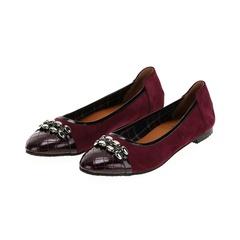 569299 Туфли женские бордо больших размеров марки Делфино