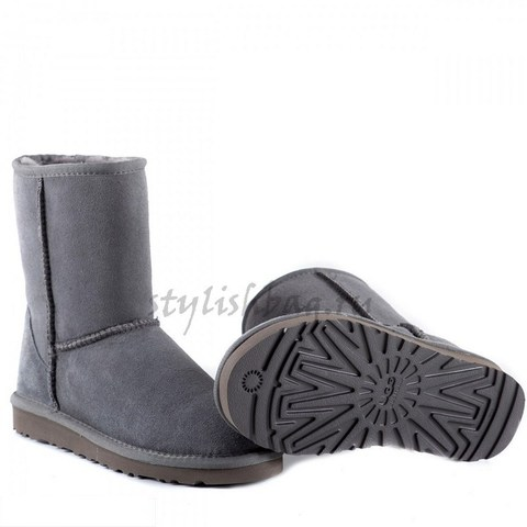 Классические угги серого цвета UGG Classic Short Grey