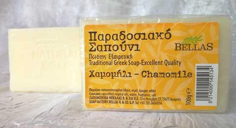 оливковое мыло с ромашкой Bellas