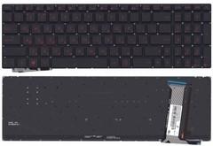 Клавиатура Asus N551J G551 красные буквы