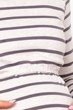 Лонгслив для беременных и кормящих 09045 лиловый/бежевый