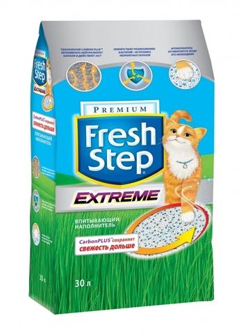 Fresh Step Extreme впитывающий наполнитель, тройная защита 30 л (15,8 кг)