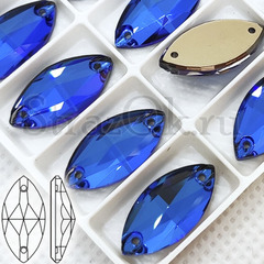 Купить пришивные стразы оптом дешево Bermuda Blue, Navette недорого