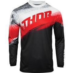 Джерси для мотокросса Thor Vapor Черный-Красный Размер M