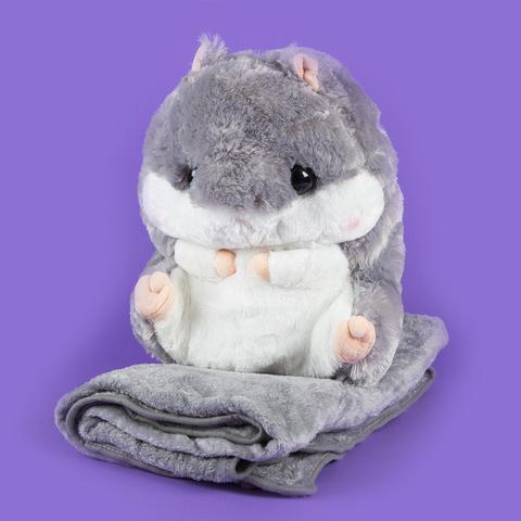 Игрушка Hamster серый с пледом (210х95см)