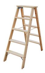 Двусторонняя лестница из дерева, со ступенями, 2 х 4 ступеней