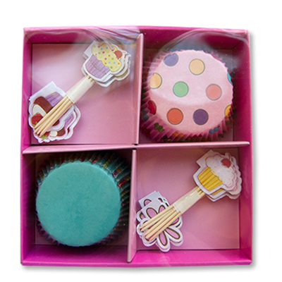 Декор-комплект для кекса Сладкий Праздник 48шт