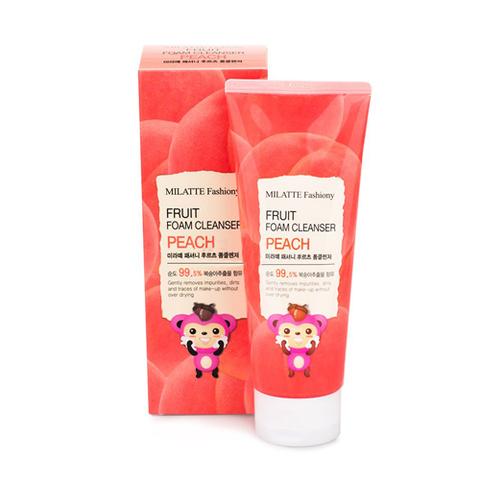 Milatte Fruit Foam Cleanser Peach пенка для умывания с экстрактом персика
