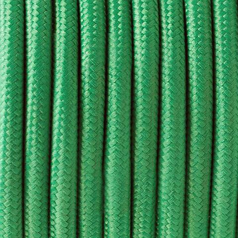 Круглый ретро провод (Темно-Зеленый) Италия